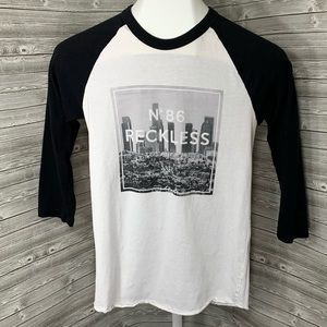 Young & Reckless 3/4 Tee Size Small